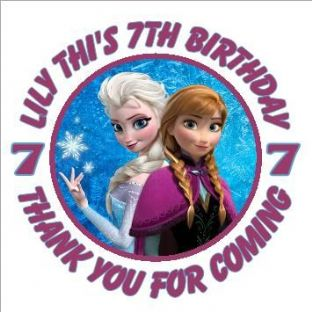Personalised Frozen Party Stickers